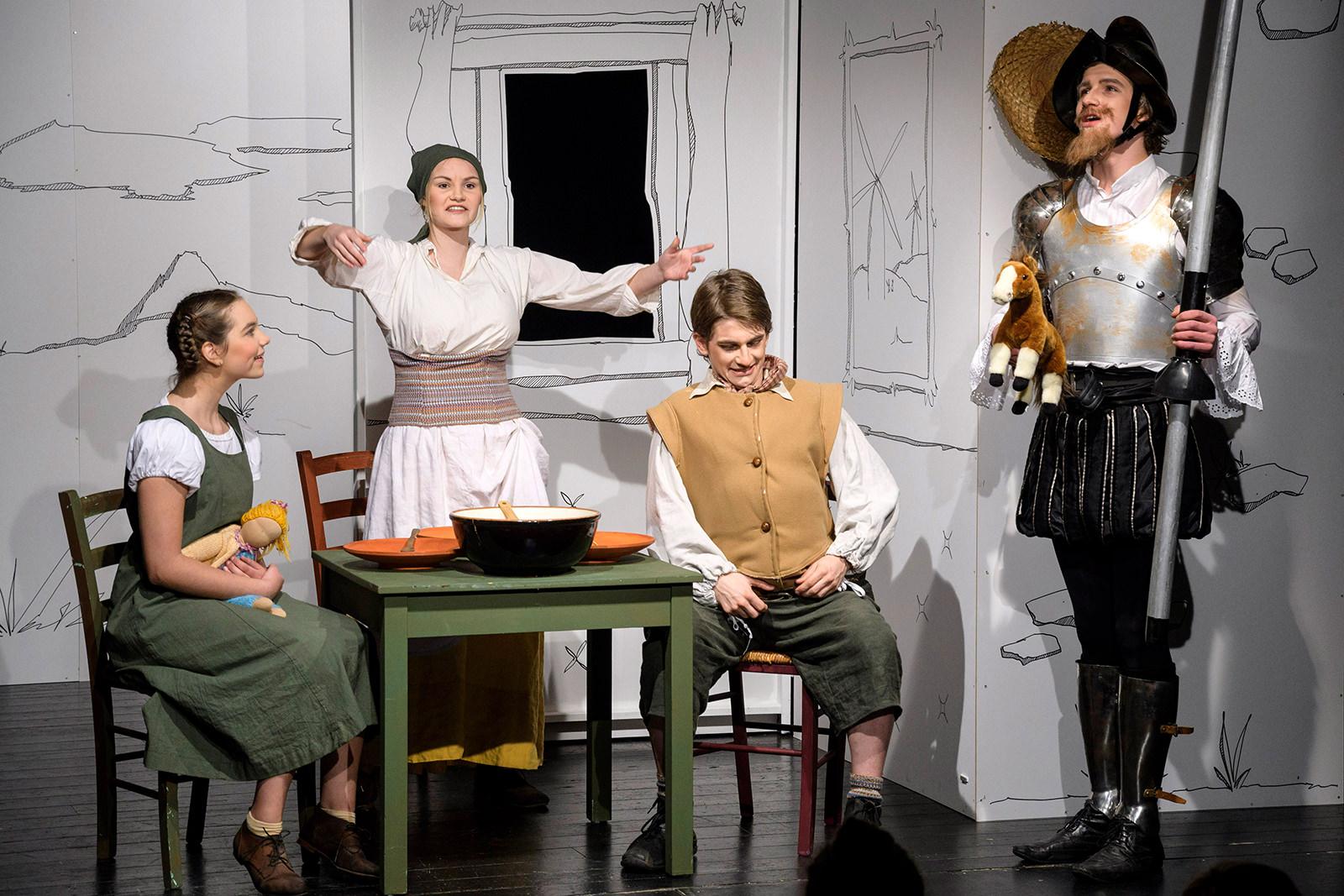 theater im enovum in Lüneburg Premiere Don Quijote