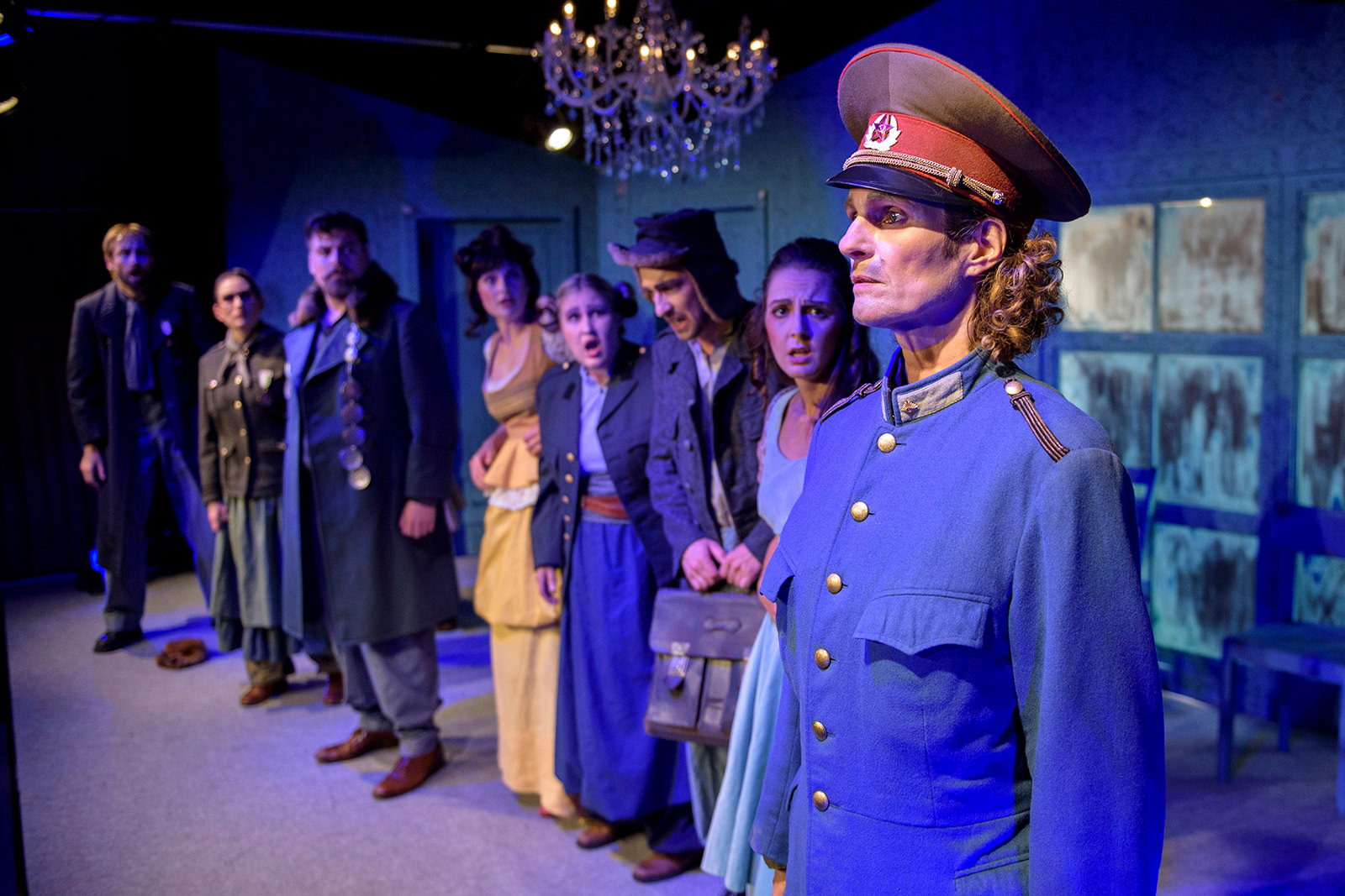 theater im enovum in Lüneburg Generalprobe Der Revisor