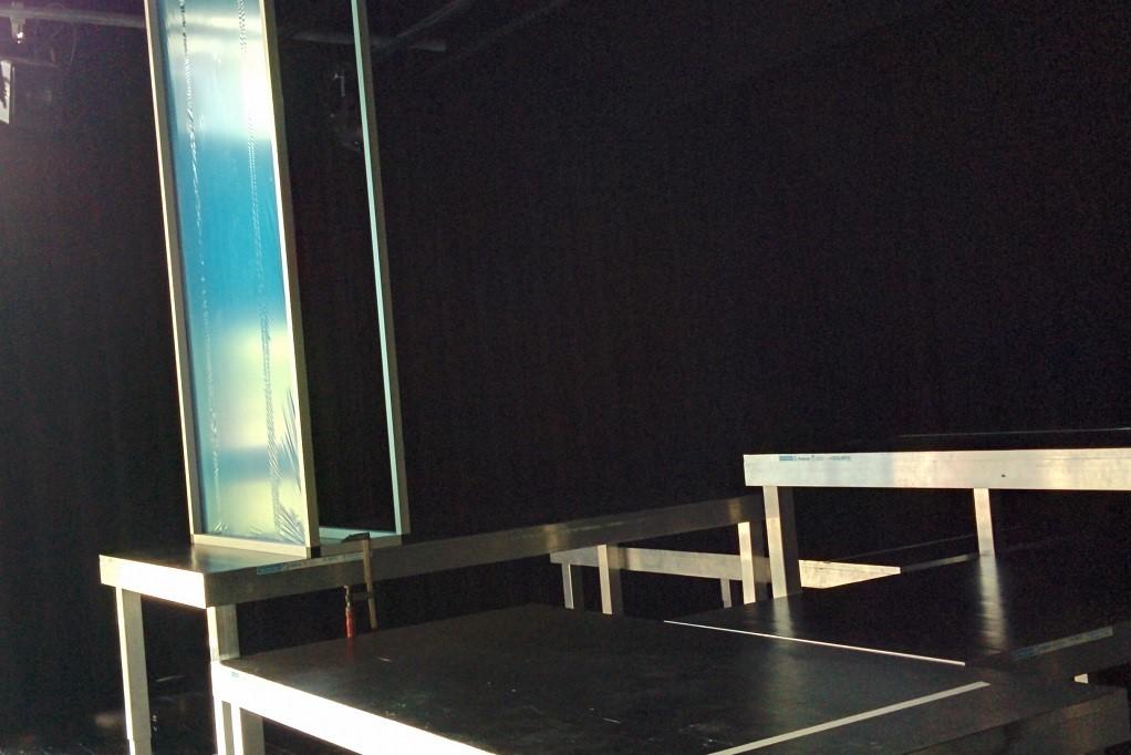 erster Bühnenaufbau Werthers Leiden theater im e.novum